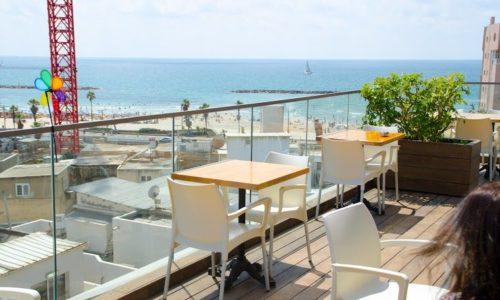 הגג בתל אביב- מרפסת עם נוף לים לחגוג אירוע