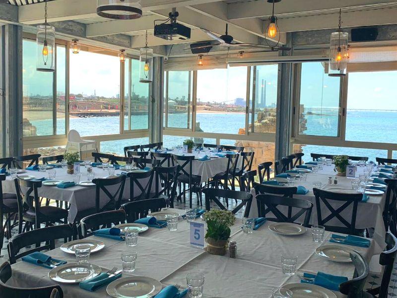 לימאני-נמל קיסריה- מסעדה לאירועים - חלל פנימי